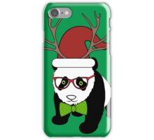 Hipster Christmas Panda iPhone Case/Skin