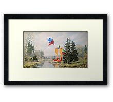 It's Drinking the Water! Framed Print