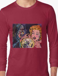 The Witch and her crystal ball Long Sleeve T-Shirt