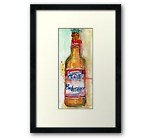 Budweiser Beer Bottle - Beer Art Framed Print