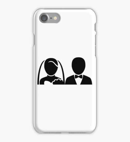 Bride and Groom Icon iPhone Case/Skin