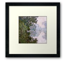 Claude Monet - Morning On The Seine, Near Giverny  Framed Print