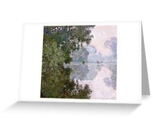 Claude Monet - Morning On The Seine, Near Giverny  Greeting Card