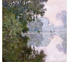 Claude Monet - Morning On The Seine, Near Giverny  Photographic Print