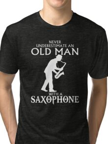 Old Man With A Saxophone Tri-blend T-Shirt