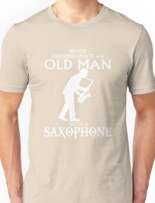 Old Man With A Saxophone Unisex T-Shirt