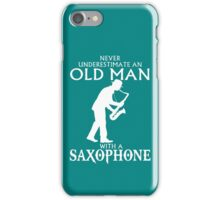 Old Man With A Saxophone iPhone Case/Skin