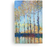 Claude Monet - Poplars On The Banks Of The Epte 1891 Canvas Print