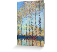 Claude Monet - Poplars On The Banks Of The Epte 1891 Greeting Card