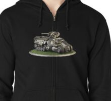 Futuristic Armoured Personnel Carrier Zipped Hoodie