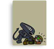 Alien vs. Marine 2 alt Canvas Print