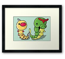 Weedle and Caterpie Framed Print