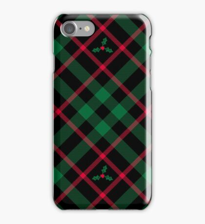 Holly Plaid iPhone Case/Skin