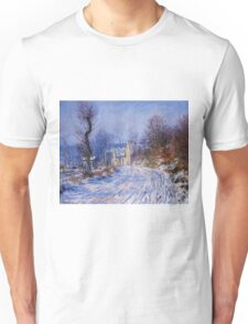 Claude Monet - Road To Giverny In Winter Unisex T-Shirt