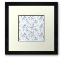 lavender flowers and leaves pattern Framed Print