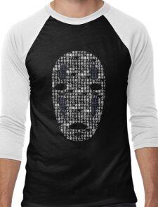 No-Face Mask Typograph Men's Baseball ¾ T-Shirt