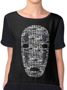 No-Face Mask Typograph Chiffon Top