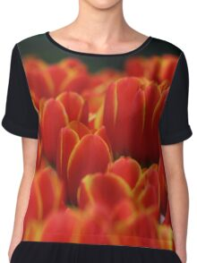 Red tulips with yellow edges Chiffon Top