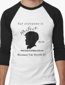 1 being the ugliest and 10 pretty  Men's Baseball ¾ T-Shirt
