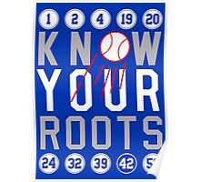 "Dodgers ""Know Your Roots"" Poster"