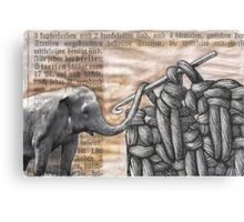 how to hook up with an elephant  (antiquated) Canvas Print