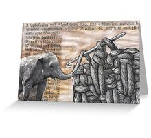 how to hook up with an elephant  (antiquated) Greeting Card