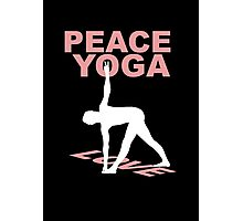 Peace yoga love Photographic Print