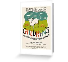 Vintage poster - Children's Paintings Greeting Card