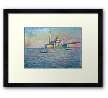 Claude Monet - The Church of San Giorgio Maggiore, Venice (1908)  Framed Print