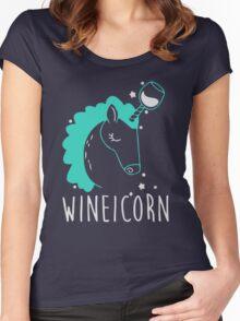 Wineicorn Women's Fitted Scoop T-Shirt