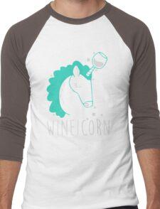 Wineicorn Men's Baseball ¾ T-Shirt