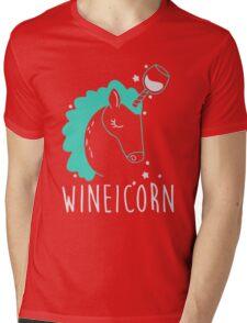 Wineicorn Mens V-Neck T-Shirt