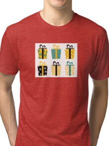 Set of patterned gift boxes for birthday / xmas : Special designers Edition Tri-blend T-Shirt