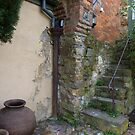 Old staircase & courtyard by PhotosByG
