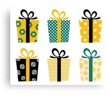Set of patterned gift boxes for birthday / xmas : Special designers Edition Canvas Print