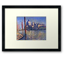 Claude Monet - The Grand Canal And Santa Maria Della Salute Framed Print
