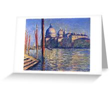 Claude Monet - The Grand Canal And Santa Maria Della Salute Greeting Card