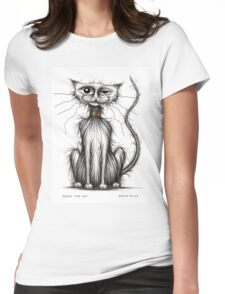 Jones the cat Womens Fitted T-Shirt