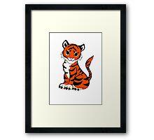 Baby Tiger Framed Print