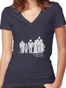 Addams Family Shire 3 Women's Fitted V-Neck T-Shirt