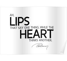 lips that say one thing - alexandre dumas Poster