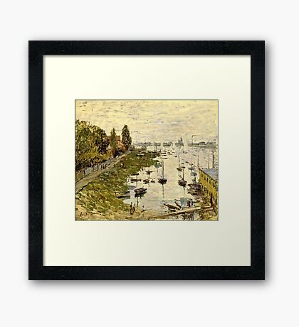 Claude Monet - The Port Of Argenteuil (Le Bassin De Argenteuil) 1874  Framed Print
