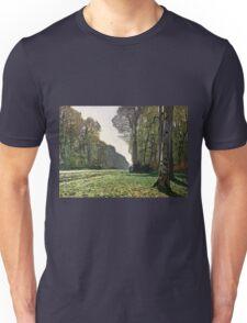 Claude Monet - The Road To Bas-Breau, Fontainebleau (Le Pave De Chailly) 1865  Unisex T-Shirt