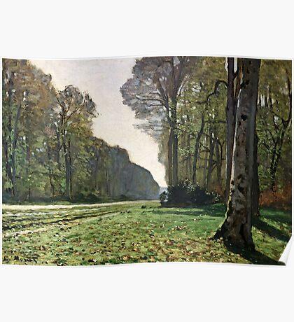Claude Monet - The Road To Bas-Breau, Fontainebleau (Le Pave De Chailly) 1865  Poster