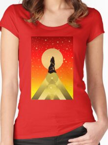 Howling Wild Wold Women's Fitted Scoop T-Shirt