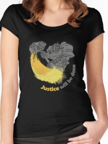 JUSTIVE WILL BE DONE Women's Fitted Scoop T-Shirt