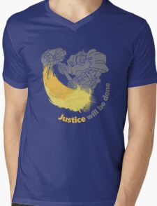 JUSTIVE WILL BE DONE Mens V-Neck T-Shirt