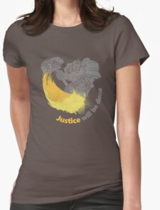 JUSTIVE WILL BE DONE Womens Fitted T-Shirt