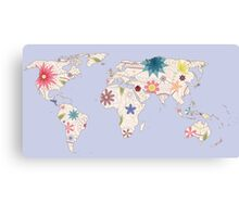 Painted world map Canvas Print