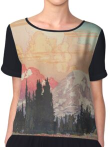 Storms over Keiisino Chiffon Top